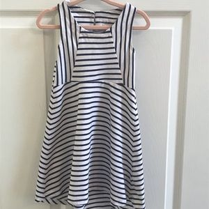 Carter's Blue and White Stripe High Low Dress 3T
